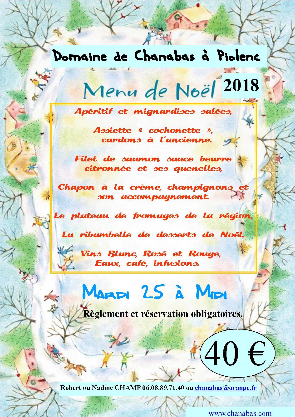 Affiche menu noel 18